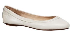 Bílé kožené baleríny Bronx
